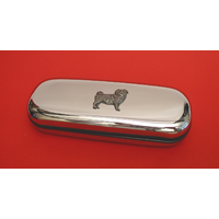 Pug Dog Motif Chrome Glasses Case Useful Mother Father Pug Gift