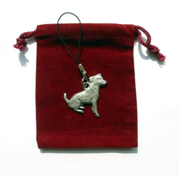 Jack Russell Dog Mobile Phone Charm Pewter Pet Gift