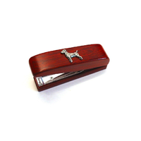 Jack Russell Terrier Motif on Rosewood Stapler Stationary Gift