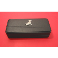 Jack Russell Terrier on Black Faux Leather Pen Box With 2 Pens