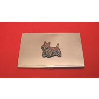 Scottish Terrier Chrome Plated Business or Credit Card Holder