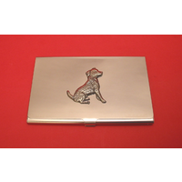 Jack Russell Terrier Chrome Plated Business / Credit Card Holder