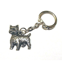 West Highland Terrier Key Ring Pewter Dog Gift