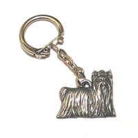 Yorkshire Terrier Pewter Keyring Dog Gift