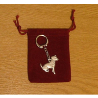Jack Russell Dog Keyring Pewter Pet Gift