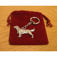 English Springer Spaniel Pewter Keyring Gundog Gift