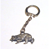 Border Collie Key Ring Pewter Dog Gift