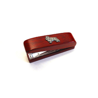 King Charles Spaniel Motif on Rosewood Stapler Stationary Gift