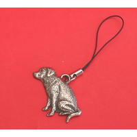Labrador Retriever Dog Mobile Phone Charm Pewter Pet Gift
