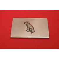 Labrador Retriever Chrome Plated Business or Credit Card Holder
