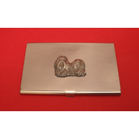 Shih Tzu Dog Chrome Plated Business or Credit Card Holder