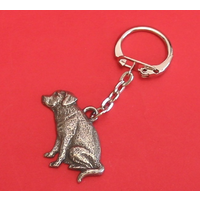 Labrador Retriever Dog Keyring Pewter Pet Mum Dad Gift
