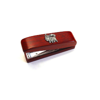Chihuahua Dog Motif on Rosewood Stapler Stationery Gift