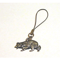 Border Collie Dog Mobile Phone Charm Pewter Pet Gift