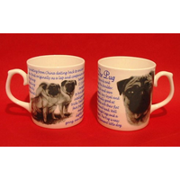 Pug Dog 'Best Friend' Fine Bone China Mug