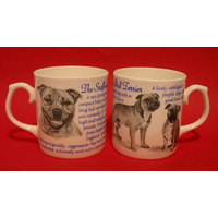 Staffordshire Bull Terrier Dog 'Best Friend' Fine Bone China Mug