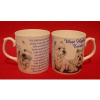 West Highland Terrier Dog 'Best Friend' Fine Bone China Mug