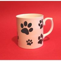 Dog Paw Print Fine Bone China Mug Pet Gift