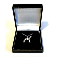 Greyhound Silver Necklace Ladies Gift Greyhound Gift