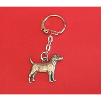 Patterdale Dog Keyring Pewter Pet Mum Dad Gift