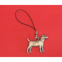 Patterdale Dog Phone Charm Pewter Pet Mum Dad Gift