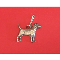 Patterdale Dog Zipper Pull Pewter Pet Mum Dad Gift