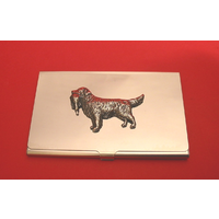 Golden Retriever Chrome Plated Business or Credit Card Holder