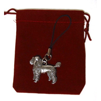 Poodle Dog Mobile Phone Charm Pewter Pet Gift