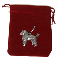 Poodle Dog Zipper Pull Pewter Pet Gift