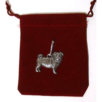 Pug Dog Zipper Pull Pewter Pug Gift