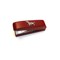 Springer Spaniel Motif on Rosewood Stapler Stationary Gift