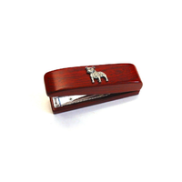 Staffordshire Bull Terrier Motif on Rosewood Stapler Stationary