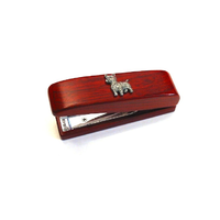West Highland Terrier Motif on Rosewood Stapler Stationary Gift