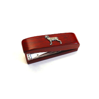 Weimaraner Dog Motif on Rosewood Stapler Stationary Gift