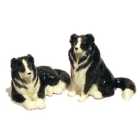 Border Collie Dogs Salt & Pepper Set Ceramic Gift