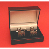 West Higland Terrier Dog Pewter Cufflinks Man's Pet Gift