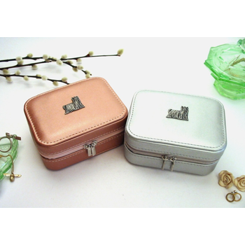 Yorkshire Terrier Design Rose Gold/Silver Travel Jewellery Box