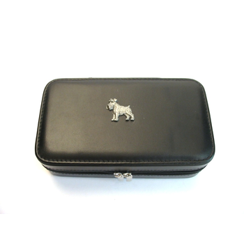 Schnauzer Design Large Black Travel Jewellery Box Useful Gift