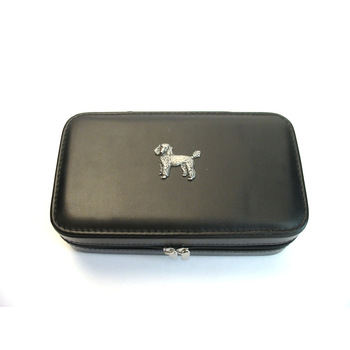 Poodle Design Large Black Travel Jewellery Box Useful Gift