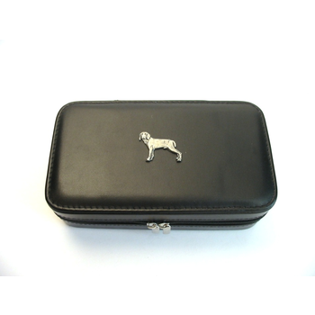 Weimaraner Design Large Black Travel Jewellery Box Useful Gift