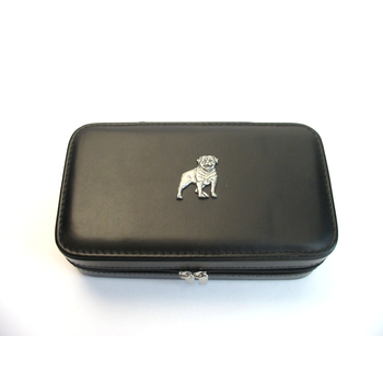 Rottweiler Design Large Black Travel Jewellery Box Useful Gift