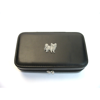 Papillon Design Large Black Travel Jewellery Box Useful Gift