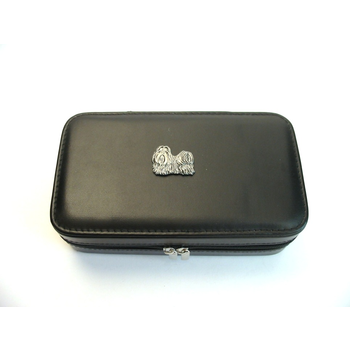 Shih Tzu Design Large Black Travel Jewellery Box Useful Gift