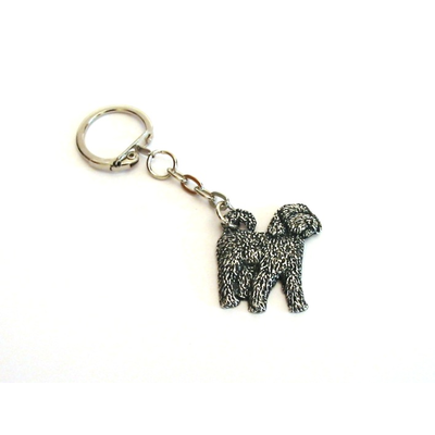 Cockapoo Dog Keyring Pewter Pet Mum Dad Cockapoo Gift