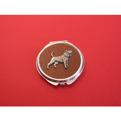 Beagle on Brown Round Compact Mirror Useful Gift