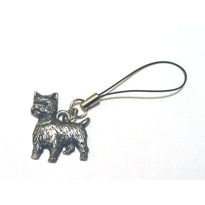 Westie Terrier Dog Pewter Mobile Phone USB Stick Charm